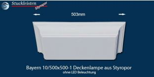 Bayern 10/500x500-1 Deckenlampe ohne LED Beleuchtung