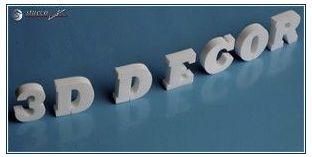 3D Logos und Deko Buchstaben aus Styropor (Polystyrol) - Höhe: 25 cm; Dicke: 2 cm
