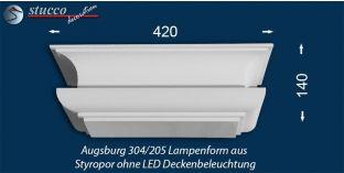 Augsburg 304-205 Lampenform ohne LED Deckenbeleuchtung