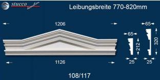 Stuck Fassade Dreieckbekrönung Frankfurt 108/117 770-820