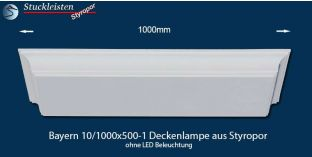 Bayern 10/1000x500-1 Deckenlampe ohne LED Beleuchtung