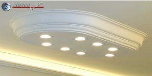 LED Deckenbeleuchtung Düren 21/1000x500-3 Design Lampen mit Stuck und LED Spots