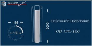 Dekosäulen-Viertel Hartschaum OB 130/166