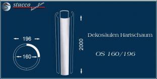 Dekosäulen-Viertel Hartschaum OS 160/196