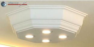 LED Stucklampe Düren 21/500x500-2 Design Lampen mit Stuck und LED Spots