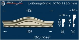 Fassadenelement Bogengiebel Oppenheim 150/104F 1070-1120