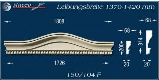 Fassadenelement Bogengiebel Putbus 150/104F 1370-1420