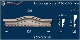 Fassadenstuck Bogengiebel Passau 150/104F 570-620