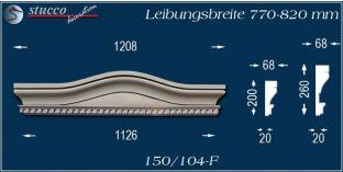 Fassadenelement Bogengiebel Saarbrücken 150/104F 770-820