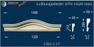 Fassadenelement Bogengiebel Frankfurt 150/117 970-1020