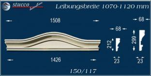 Fassadenelement Bogengiebel Leverkusen 150/117 1070-1120