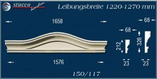 Fassadenelement Bogengiebel Bernburg 150/117 1220-1270