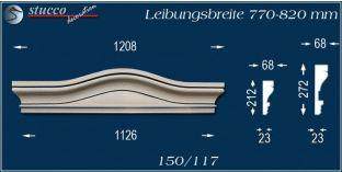 Fassadenelement Bogengiebel Potsdam 150/117 770-820