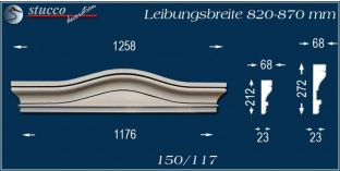 Fassadenelement Bogengiebel Amberg 150/117 820-870
