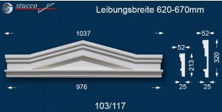 Fassadenelement Dreieckbekrönung Berlin 103/117 620-670