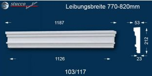 Fassadenelement Tympanon gerade Berlin 103/117 770-820