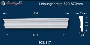 Fassadenelement Tympanon gerade Berlin 103/117 820-870