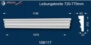 Fassadenelement Tympanon gerade Frankfurt 108/117 720-770