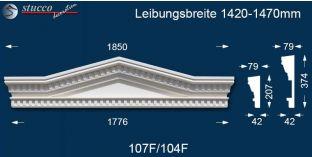 Fassadenstuck Tympanon Dreieckbekrönung Leipzig 107F/104F 1420-1470
