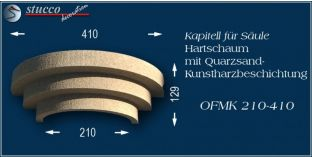 Kapitell-Hälfte für Säule mit Beschichtung OFMK 210/410