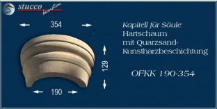 Kapitell-Hälfte für Dekosäule mit Beschichtung OFKK 190/354