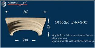 Säulenkapitell-Hälfte mit Beschichtung OFK-2K 240/360