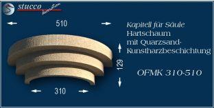Kapitell-Hälfte für Säule mit Beschichtung OFMK 310/510