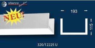 Stuckleiste Basisprofil für Deckenbeleuchtung mit LED Spots Münster 320 U