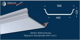 Stuckprofil für direkte Beleuchtung Düren 400+2x21