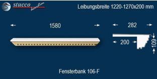 Komplette Fensterbank Freising 106F 1220-1270-200