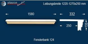 Komplette Fensterbank Würzburg 124 1220-1270-250