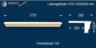 Komplette Fensterbank Hagen 124 1370-1420-200