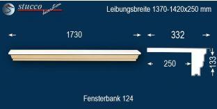 Komplette Fensterbank Ilsenburg 124 1370-1420-250