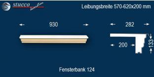 Komplette Fensterbank Hamburg 124 570-620-200