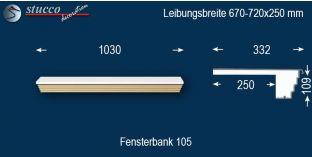 Komplette Fensterbank Dülmen 105 670-720-250