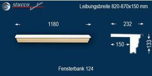 Komplette Fensterbank Leverkusen 124 820-870-150