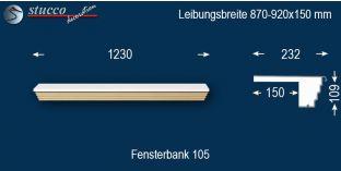 Komplette Fensterbank Kulmbach 105 870-920-150