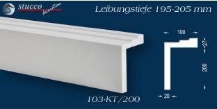 L-Profil für Laibung und Faschen Bangkok 103-KT 195-205 mm