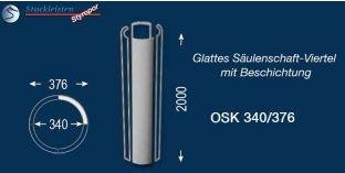 Glattes Säulenschaft-Viertel mit Beschichtung OSK 340/376