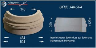Säulenbasis-Hälfte mit Beschichtung OFKK 340/504