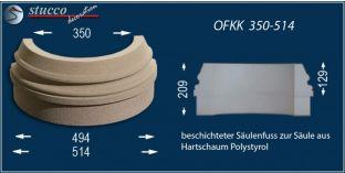 Säulenbasis-Hälfte mit Beschichtung OFKK 350/514
