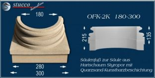 Säulensockel-Hälfte mit Beschichtung OFK-2K 180/300