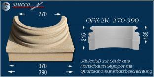 Säulensockel-Hälfte mit Beschichtung OFK-2K 270/390