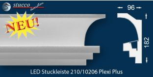 Stuckleisten für indirekte Beleuchtung Köln 210 PLEXI PLUS