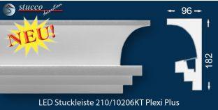 Vorhangleiste zur Stuckleiste Köln 210 PLEXI PLUS