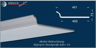 Stuckprofil für direkte Beleuchtung Bayern 400+10