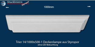 Trier 14-1000x500-1 Styropor Deckenlampe ohne LED Beleuchtung