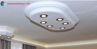LED Stucklampe Trier 14/1000x500-3 mit LED Spots