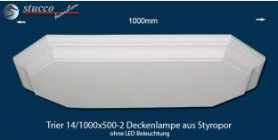 Trier 14-1000x500-2 Deckenlampe ohne LED Beleuchtung