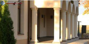 Dekosäulen-Viertel kanneliert mit Beschichtung OBK 250/286